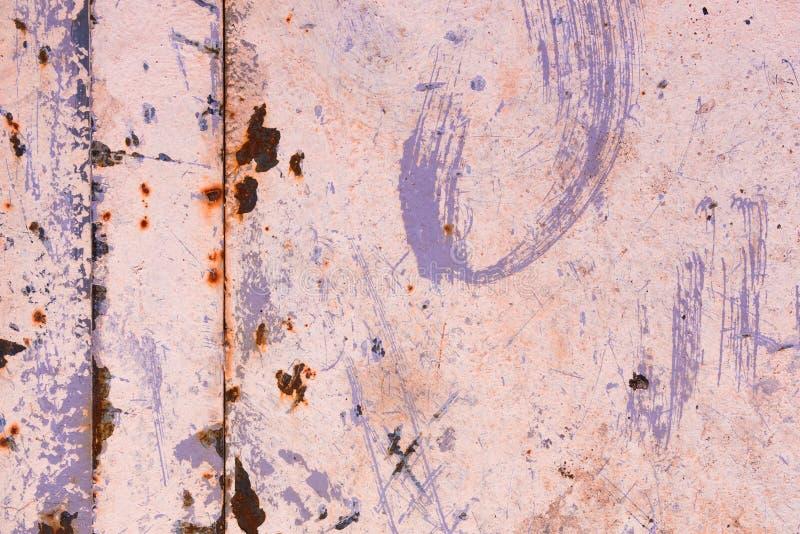 Scratchy ржавая декоративная металлическая предпосылка стоковые фотографии rf