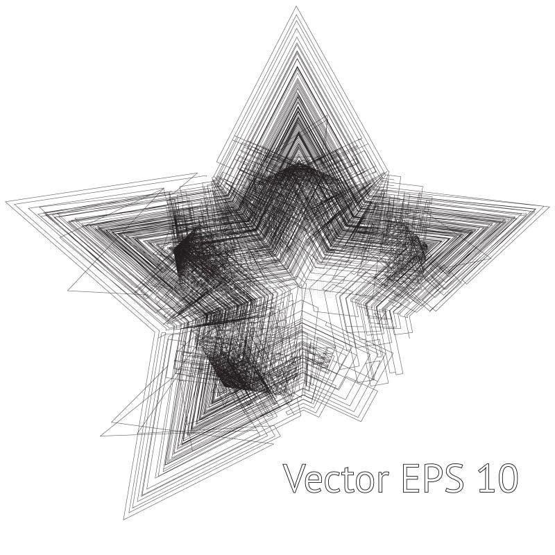 Scratchy pięć punktów gwiazda ilustracja wektor