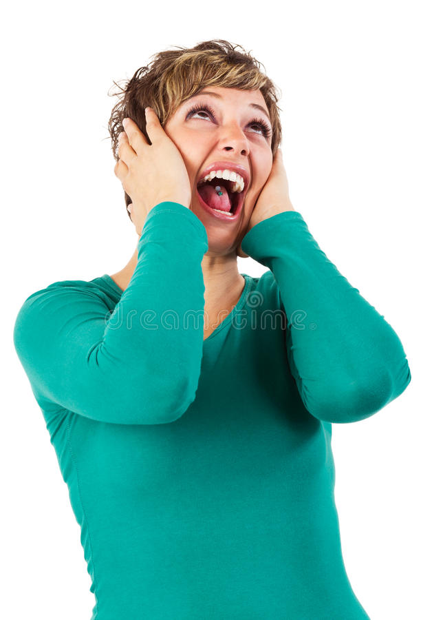 Download Scream stock photo. Image of angry, loud, emotion, hands - 22681640