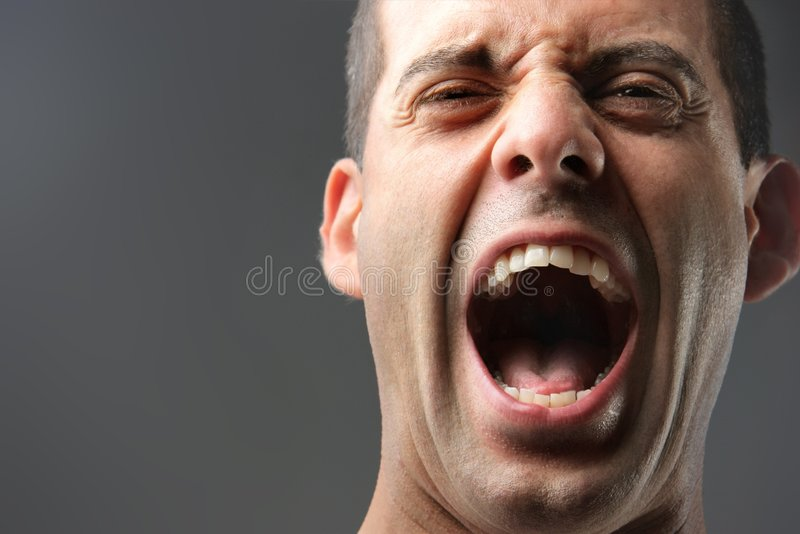 Download Scream stock photo. Image of closeup, conflict, assertiveness - 6314618
