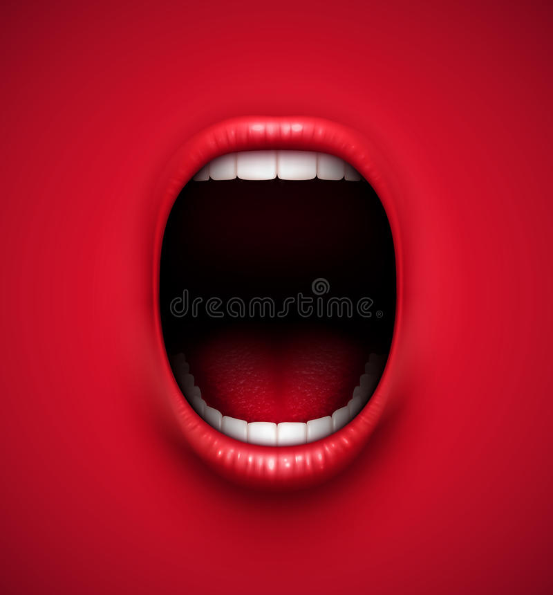 Scream background stock illustration
