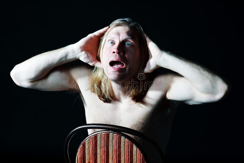 Scream Of Crazy Man Royalty Free Stock Images