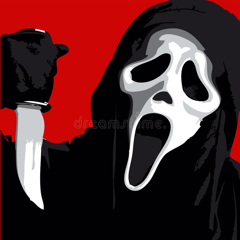 Scream Scary stock illustration