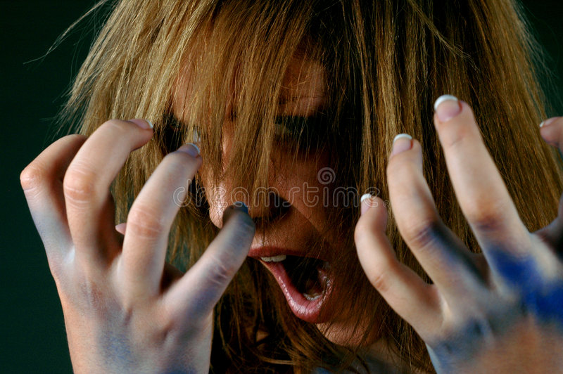 Scream and scratch royalty free stock photo