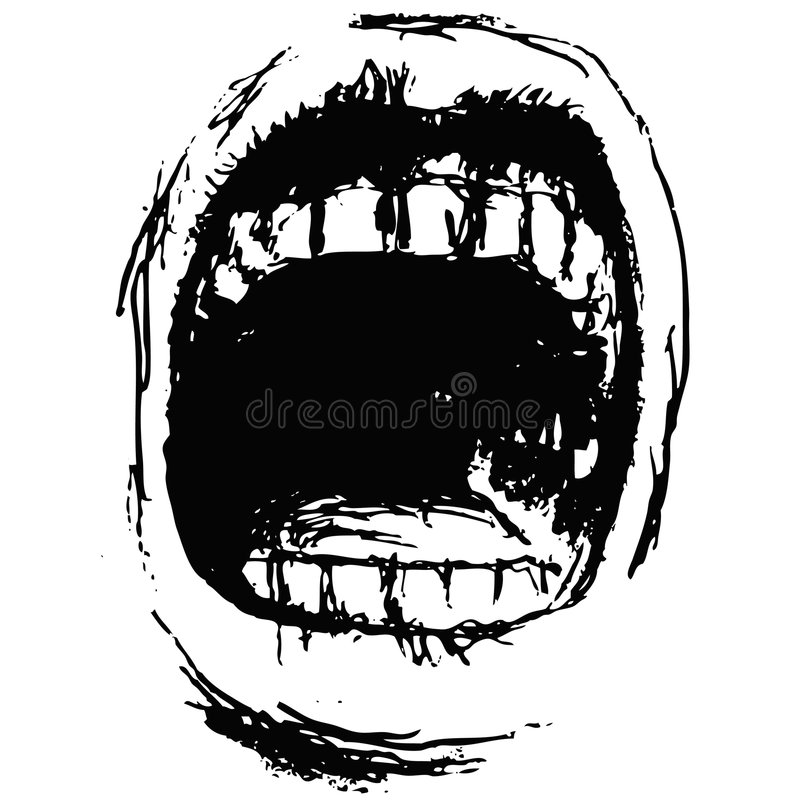 Download Scream (vector) stock vector. Image of anger, expressive - 8467107