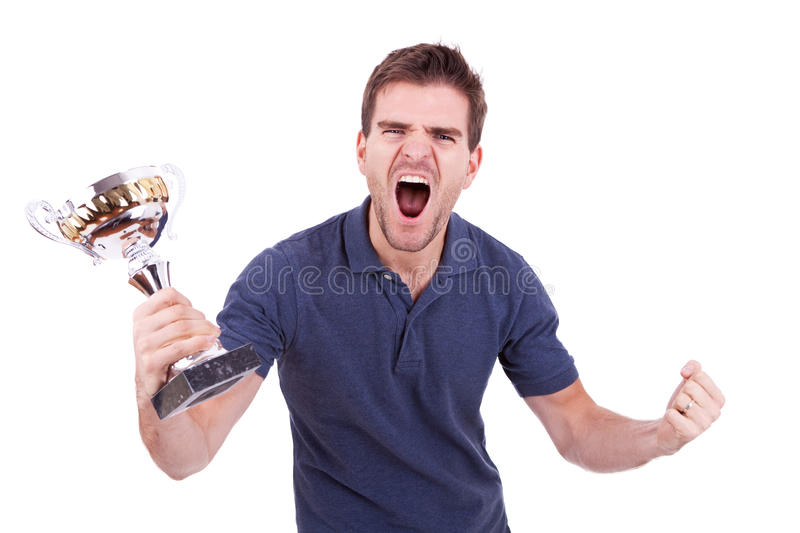 Scream of victory royalty free stock images