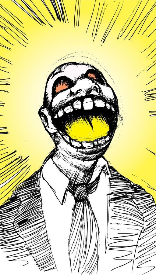 Screamer royalty free illustration