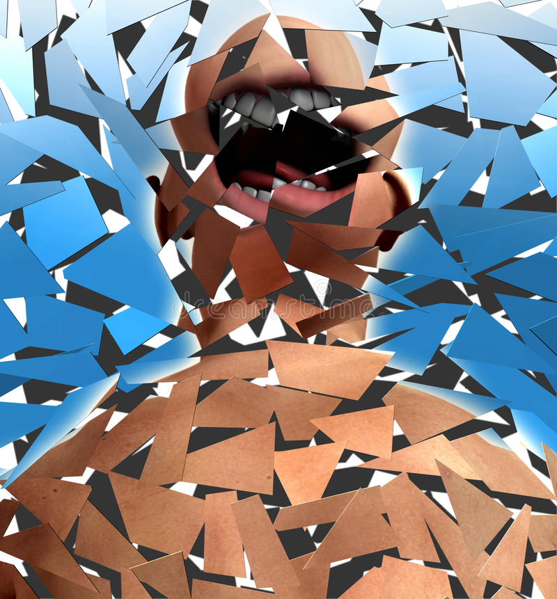 Screamer quebrado ilustração royalty free