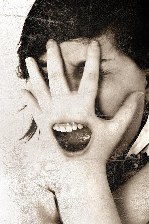 screaming стоковое изображение