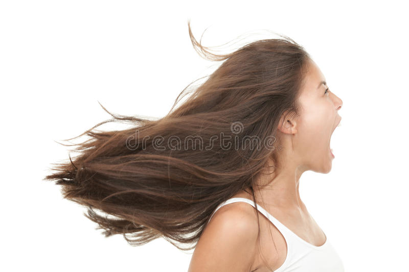 Download Screaming stock photo. Image of lady, face, close, model - 12429198