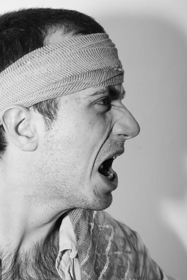 Download Screaming stock photo. Image of mouth, diabolic, dark - 20963188