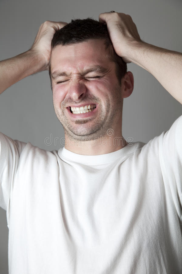 Download Screaming stock image. Image of male, shoulders, looking - 21843519