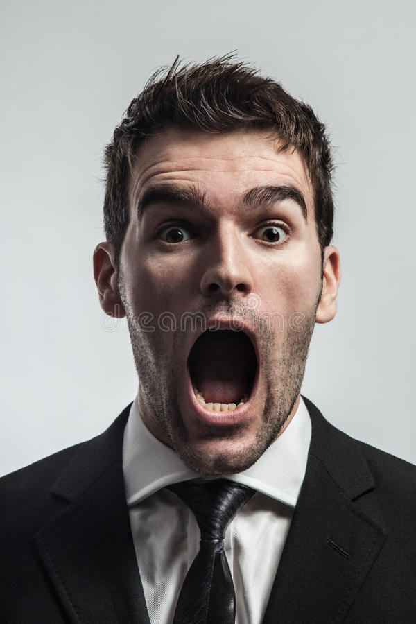 Download Screaming stock image. Image of male, business, facial - 24809717