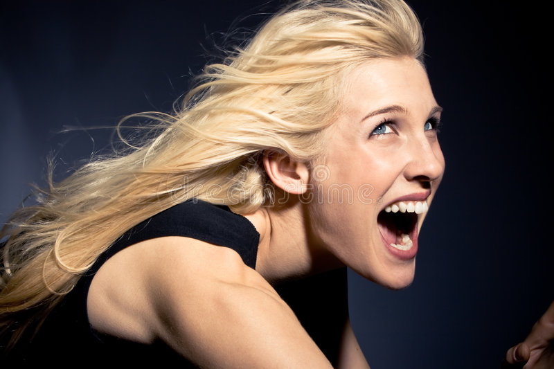 Download Screaming stock image. Image of horror, blond, facial - 4448925
