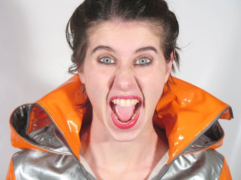 Download Screaming stock image. Image of short, woman, eyes, orange - 5532813