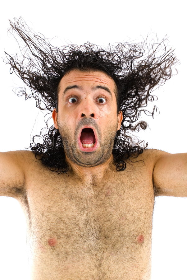Download Screaming stock photo. Image of hair, face, clothes, haired - 9043790