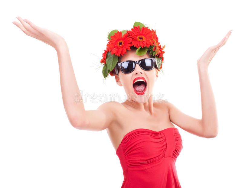 Screaming Beauty Stock Images