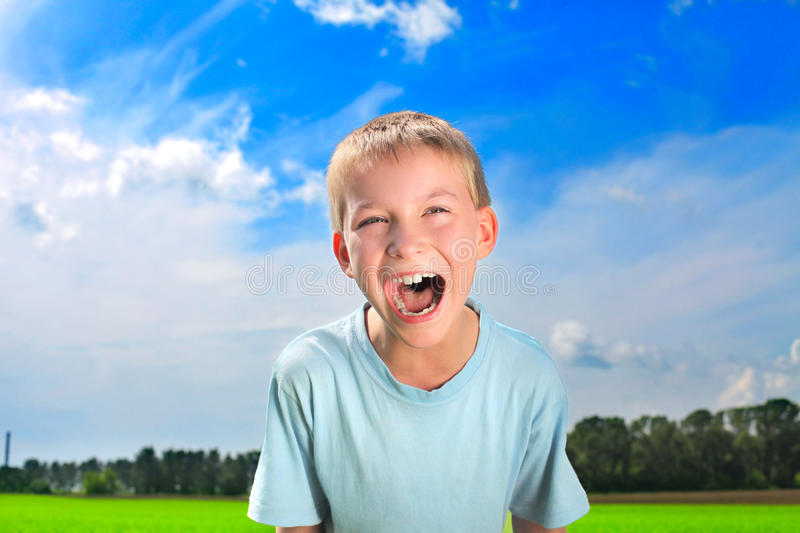Download Screaming boy stock photo. Image of happiness, close - 23220226