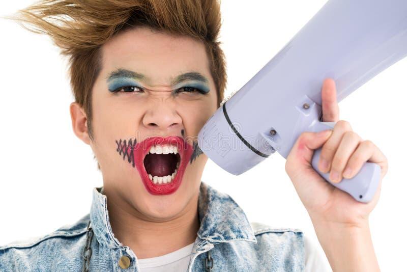 Download Screaming boy stock image. Image of bizarre, creative - 28928741