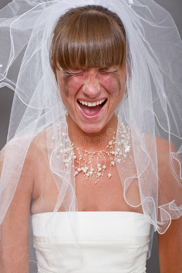Download Screaming bride stock photo. Image of dress, female, necklace - 15224774