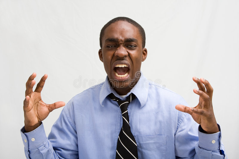 Download Screaming Business Professiona Stock Image - Image: 5392263