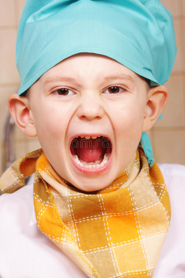 Download Screaming cook stock photo. Image of person, loud, shouting - 12171166