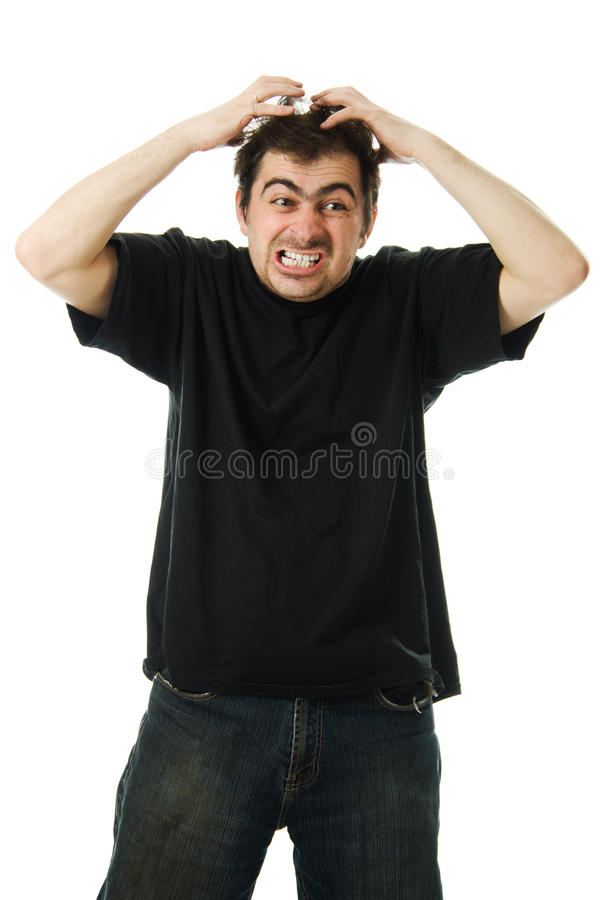 Download Screaming From Despair A Man Royalty Free Stock Photo - Image: 27433915