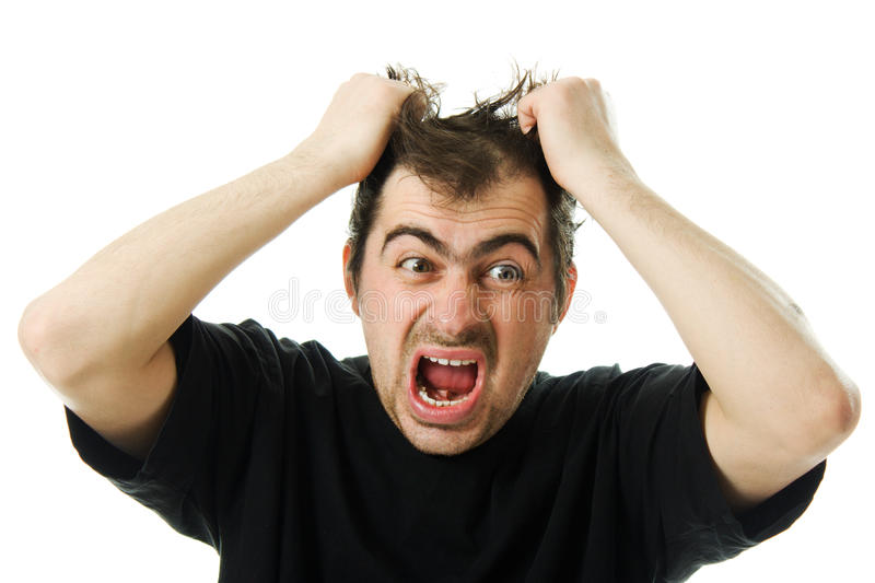 Download Screaming From Despair A Man Stock Image - Image of frustrated, open: 27433925