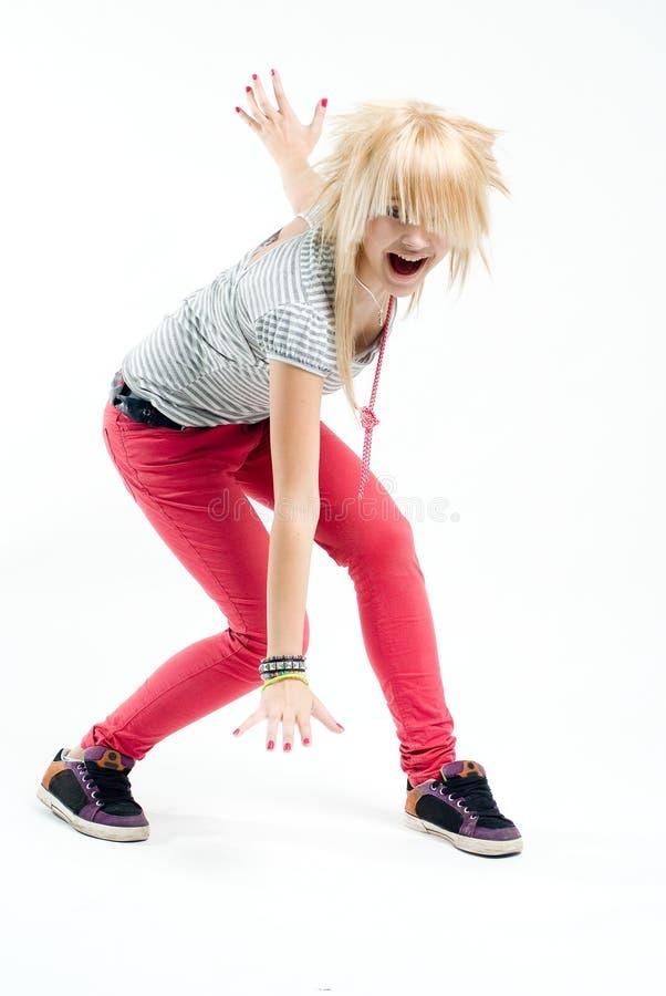 Download Screaming emo girl stock image. Image of dancer, model - 9820545