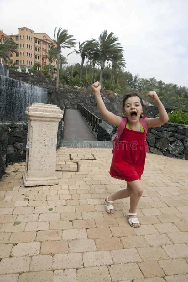 Screaming girl stock photography
