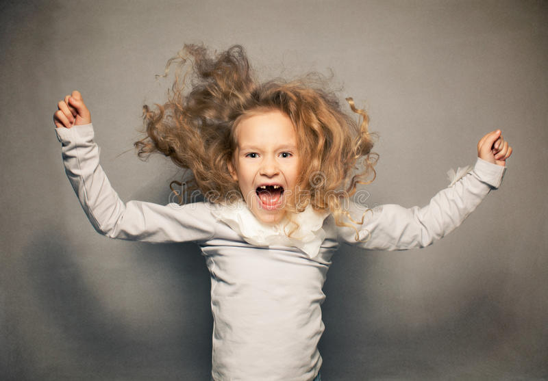 Download Screaming girl stock image. Image of childhood, ideas - 34667151