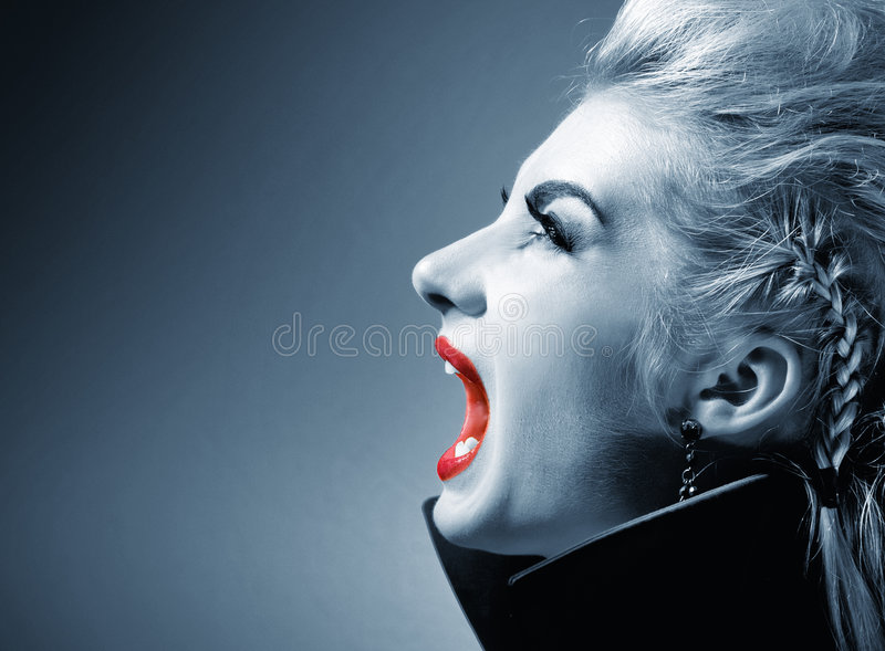 Screaming gothic woman. Picture of a Screaming gothic woman royalty free stock images