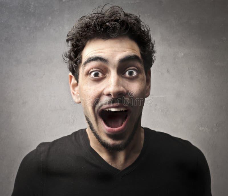 Screaming Guy Royalty Free Stock Image