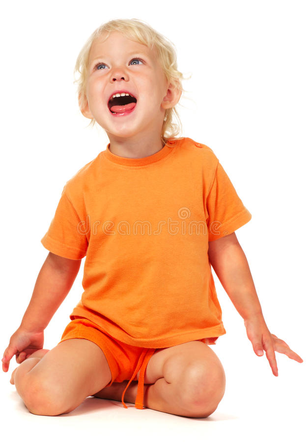 Download Screaming little girl stock image. Image of panic, beauty - 11124279