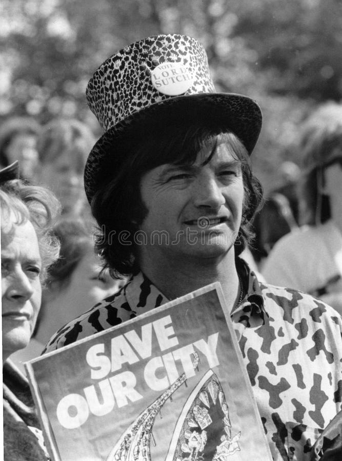 Screaming Lord Sutch royalty free stock images