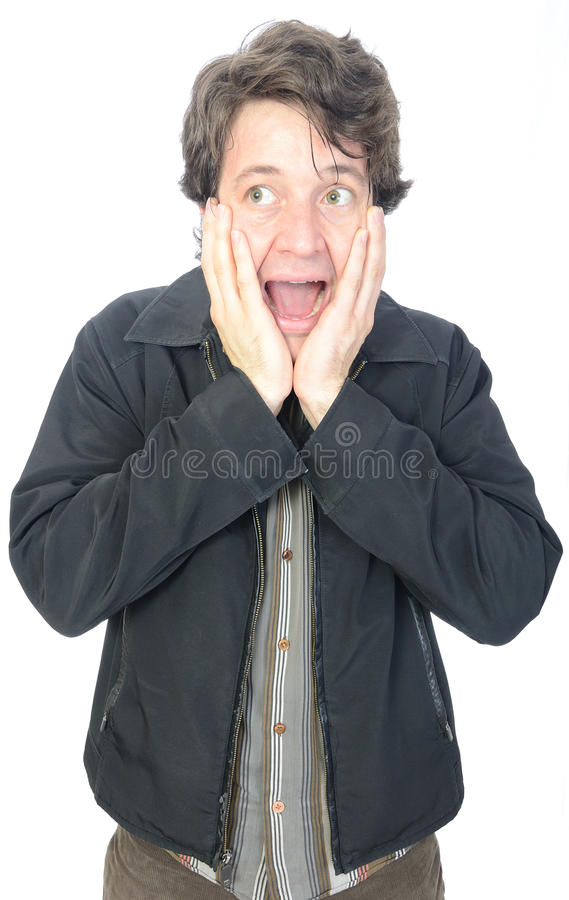 Download Screaming Man stock photo. Image of dude, collared, face - 18994340
