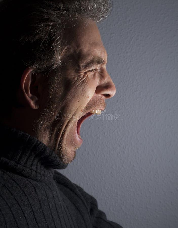 Screaming man royalty free stock image