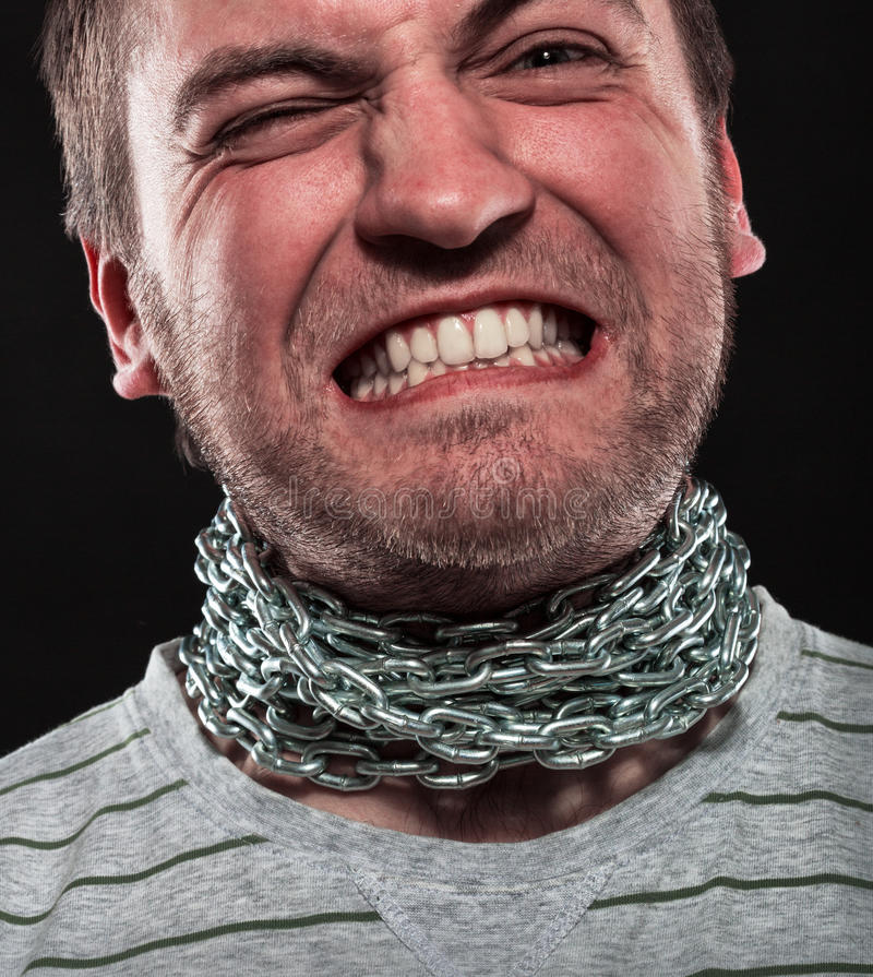 Download Screaming stressed man stock photo. Image of chain, opposition - 29899070