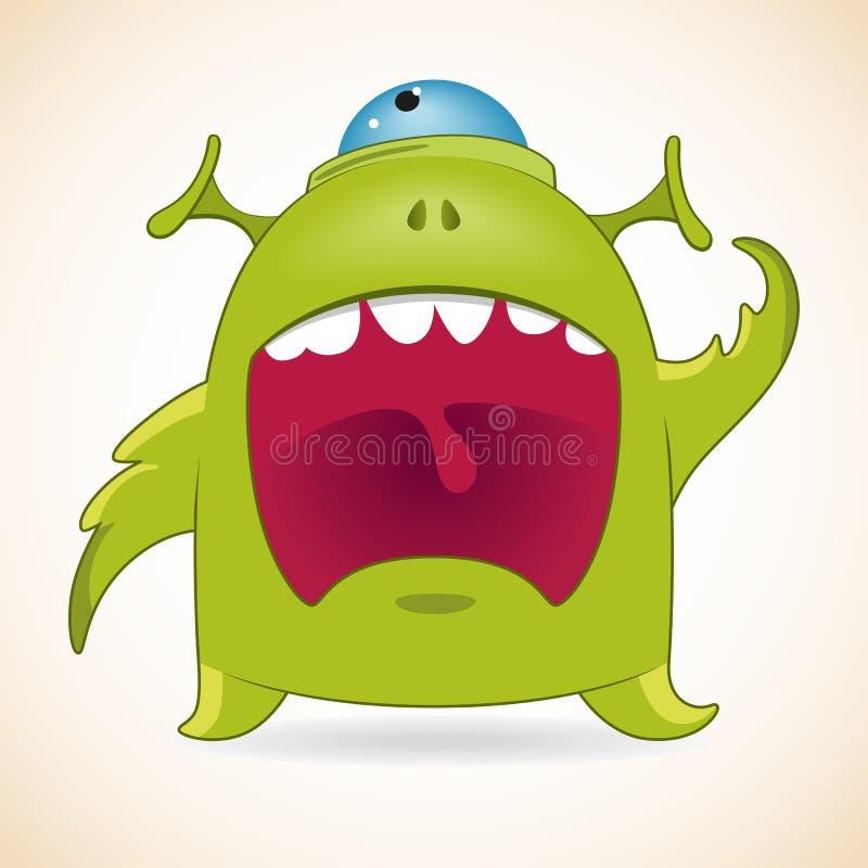Screaming monster royalty free illustration