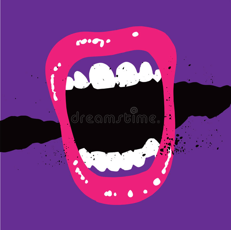 Screaming Mouth stock photography