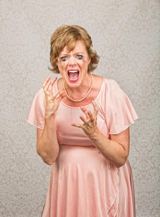 Download Screaming Pregnant Lady stock photo. Image of shouting - 34930284