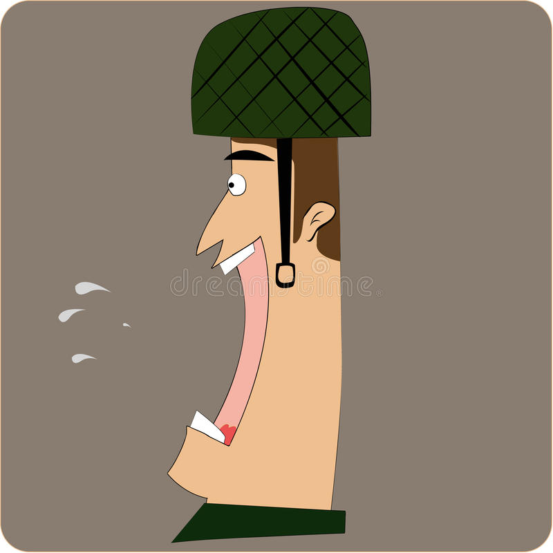 Screaming Soldier Stock Image