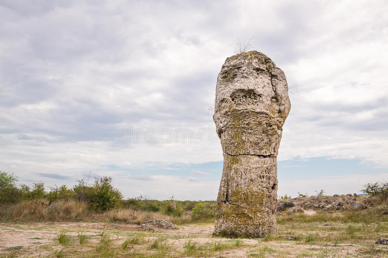 Screaming Soldier. Stone Forest, Bulgaria. royalty free stock photography