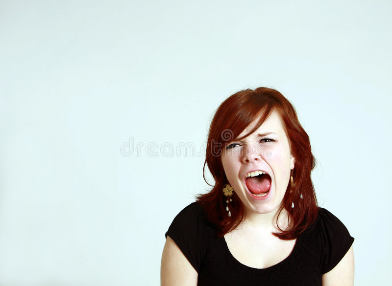 Download Screaming teen girl stock photo. Image of eyes, expression - 8856606