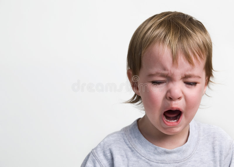 Download Screaming Toddler stock image. Image of aggressive, white - 4418629