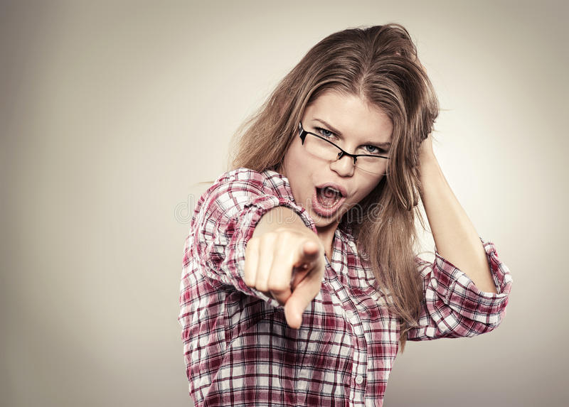 Download Screaming woman stock image. Image of looking, show, attractive - 34265495