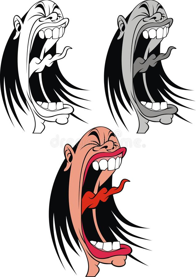 Download Screaming woman or man stock vector. Illustration of character - 30480530