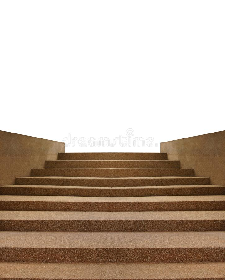 The scree stairs isolated on white background royalty free stock images