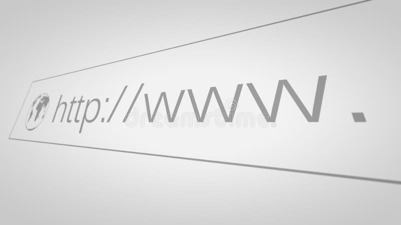 Screen With Address Bar. Closeup of Computer Screen With Address Bar of Web Browser royalty free illustration