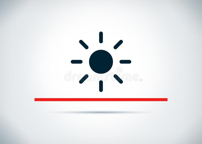 Screen brightness sun icon abstract flat background design illustration. Screen brightness sun icon isolated on abstract flat background design illustration stock illustration
